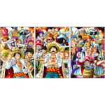 tableau toile one piece 3 parties roi pirates 3