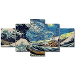 tableau toile one piece 5 parties vogue merry waves 3