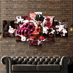 tableau toile one piece 5 parties luffy gear fourth snakeman 2