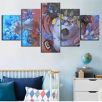 tableau toile one piece 5 parties jinbe 1