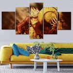 tableau toile one piece 5 parties monkey luffy strawhat 1