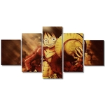 tableau toile one piece 5 parties monkey luffy strawhat 3