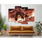 tableau toile one piece 4 parties luffy barbe blanche 2