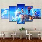 tableau toile one piece 5 parties frères luffy sabo ace 1