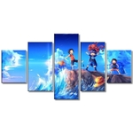 tableau toile one piece 5 parties frères luffy sabo ace 3