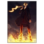 tableau toile one piece vinsmoke sanji fire 3