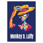 tableau toile one piece monkey luffy color blue 3