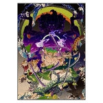 tableau toile one piece zoro ashura 3