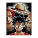 tableau toile one piece heritage luffy shanks roger 3