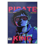 tableau toile one piece pirate king 3