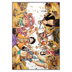 tableau toile one piece mugiwara treasure 3