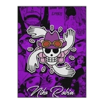 tableau toile one piece jolly roger nico robin 3