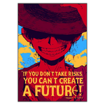 tableau toile one piece quote monkey luffy 3