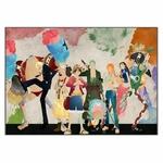 tableau toile one piece mugiwara aquarelle paint