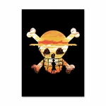 tableau toile one piece luffy spray paint 3