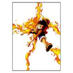 tableau toile one piece monkey luffy fire 3