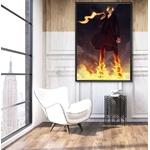 tableau toile one piece vinsmoke sanji fire 5