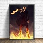 tableau toile one piece vinsmoke sanji fire 4