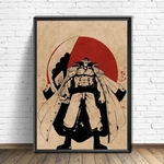 tableau toile one piece red point barbe blanche 4