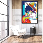 tableau toile one piece monkey luffy color 5