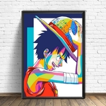 tableau toile one piece monkey luffy color 4