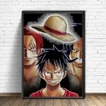 tableau toile one piece heritage luffy shanks roger 4