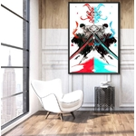 tableau toile one piece roronoa zoro red blue 5