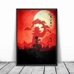 tableau toile one piece landscape monkey luffy wano kuni 5