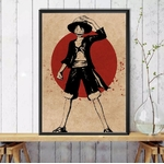 tableau toile one piece red point luffy 5