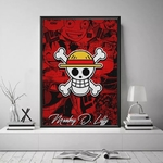 tableau toile one piece jolly roger monkey luffy 4