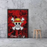 tableau toile one piece jolly roger monkey luffy 5