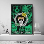 tableau toile one piece jolly roger brook 4