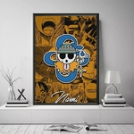 tableau toile one piece jolly roger nami 4