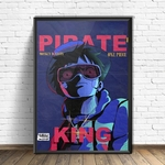 tableau toile one piece pirate king 4