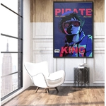 tableau toile one piece pirate king 5