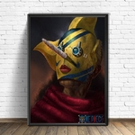 tableau toile one piece usopp sniperking 4