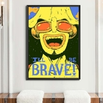 tableau toile one piece quote usopp 5
