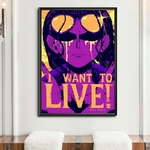 tableau toile one piece quote nico robin 5