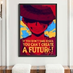 tableau toile one piece quote monkey luffy 5