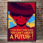 tableau toile one piece quote monkey luffy 4
