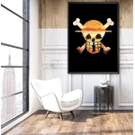 tableau toile one piece luffy spray paint 5