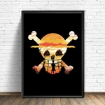 tableau toile one piece luffy spray paint 4