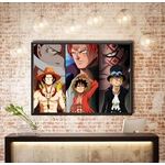 tableau toile one piece freres mentors luffy ace sabo 5