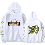 sweatshirt one piece pirate usopp blanc