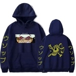 sweatshirt one piece pirate usopp bleu