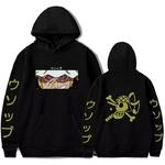 sweatshirt one piece pirate usopp noir