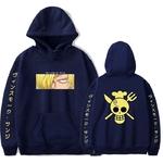 sweatshirt one piece pirate sanji bleu