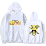 sweatshirt one piece pirate sanji blanc