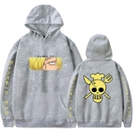 sweatshirt one piece pirate sanji gris