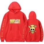 sweatshirt one piece pirate sanji rouge